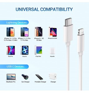 Cavo USB C compatibile iPhone fast charge